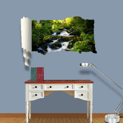 ФОТО Mountain Spring Pattern Home Appliances Decoration 3D Wall Sticker
