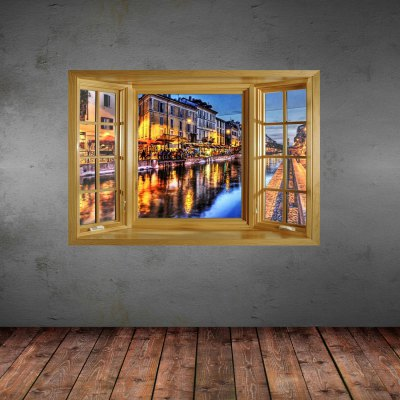 ФОТО The Color Of The Night Pattern Home Appliances Decoration 3D Wall Sticker