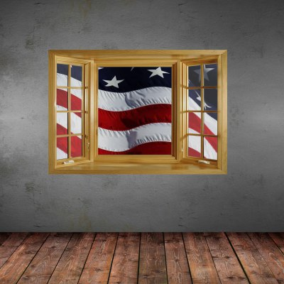 American Flag Pattern Home Appliances Decoration 3D Wall Sticker