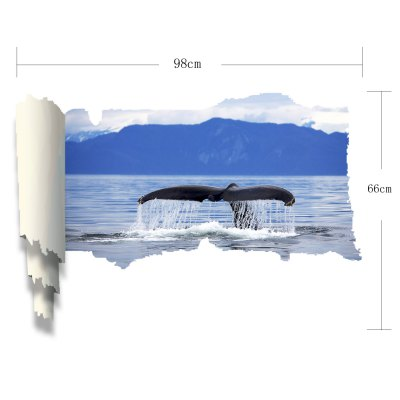 Фотография Vinyl Material 3D Wall Sticker Decal with Marine Organism for Bedroom Living Room
