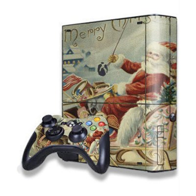 Santa Claus Style Game Console Gamepad Controller Stickers Skin for Xbox 360E