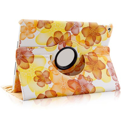 Фотография Flower Patten PU and PC Material Rotatable Stand Design Protective Cover Case for iPad Air 2