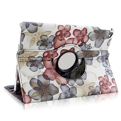 ФОТО Flower Patten PU and PC Material Rotatable Stand Design Protective Cover Case for iPad Air 2