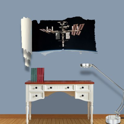 ФОТО Spaceship Pattern Home Appliances Decoration 3D Wall Sticker