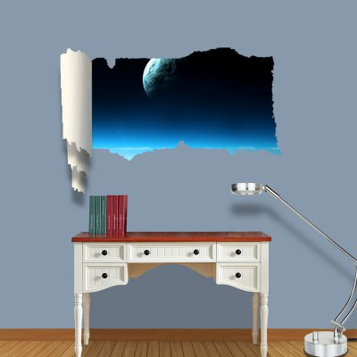 Гаджет   Floating Earth Pattern Home Appliances Decoration 3D Wall Sticker Home Decor