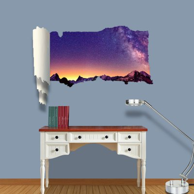 Starlit Night Pattern Home Appliances Decoration 3D Wall Sticker
