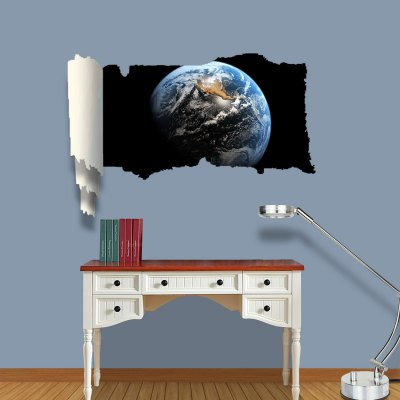 ФОТО View of Earth Pattern Home Appliances Decoration 3D Wall Sticker