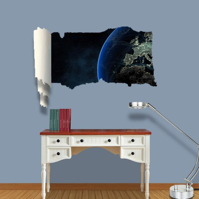 ФОТО Shadow of Planet Pattern Home Appliances Decoration 3D Wall Sticker