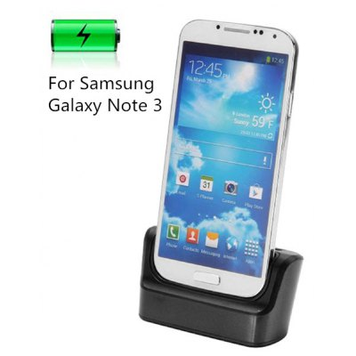 Dual USB Cradle Docking Base Station Charging Cradle Dock for Samsung Galaxy Note 3 N9000 With Battery Slot