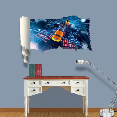 Cool Racing Pattern Home Appliances Decoration 3D Wall Sticker
