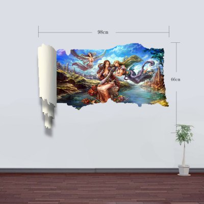 Фотография Goddesses Pattern Home Appliances Decoration 3D Wall Sticker
