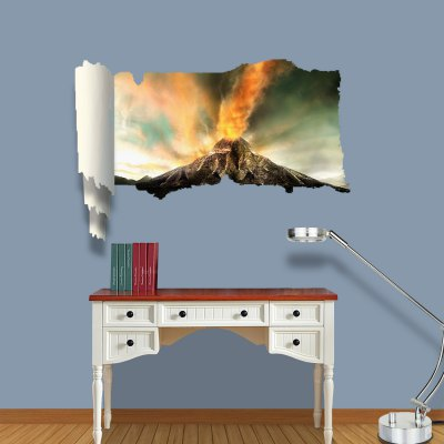 ФОТО Volcanic Explosion Pattern Home Appliances Decoration 3D Wall Sticker