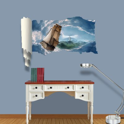 Dream Travel Pattern Home Appliances Decoration 3D Wall Sticker
