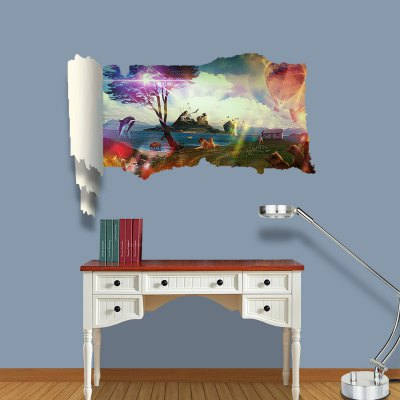 Fantasy World Pattern Home Appliances Decoration 3D Wall Sticker