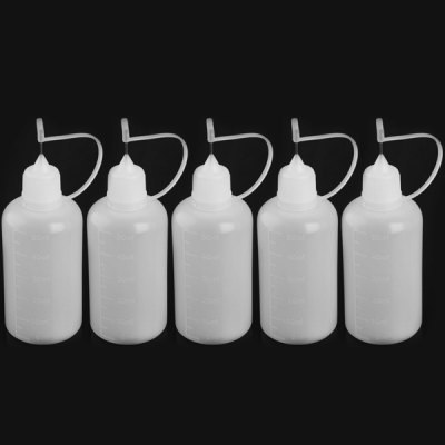 5pcs / Pack 50ml E - juice Refiller Oil Bottle Electric Cigarette E - liquid Juice Bottle with Needle Tip