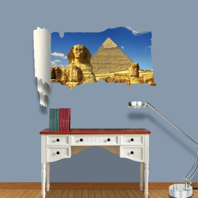 ФОТО Pyramid and Sphinx Pattern Home Appliances Decoration 3D Wall Sticker