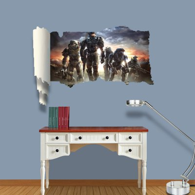 ФОТО Future Soldiers Pattern Home Appliances Decoration 3D Wall Sticker