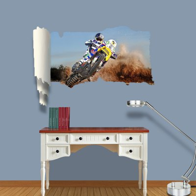 ФОТО Motorcycle Show Pattern Home Appliances Decoration 3D Wall Sticker