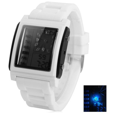 HeiQi D3009 Double Shows LED Sports Watch with Day Alarm Function