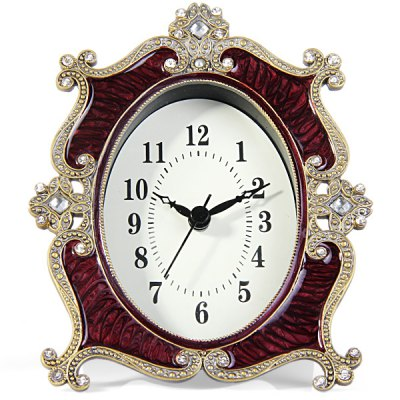 Гаджет   Luxurious Diamond Oval face Clock Table Desk Clock Unisex Watches