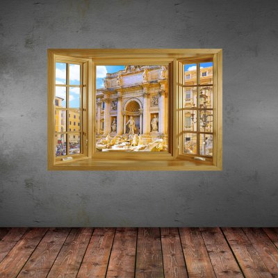 ФОТО Historical Site Pattern Home Appliances Decoration 3D Wall Sticker