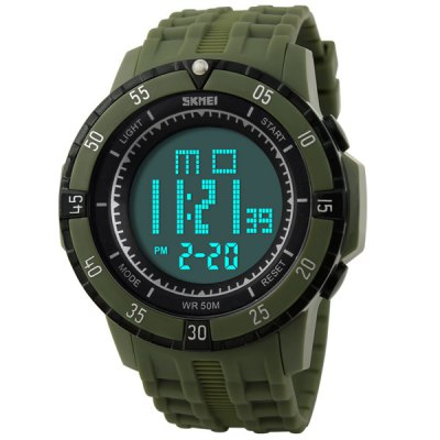 Skmei 1089 Multifunctional Military LED Watch Water Resistant for Outdoor Sports