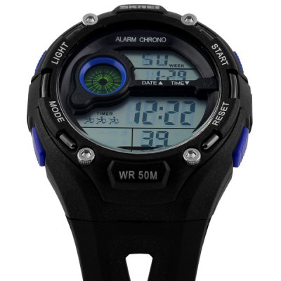Фотография Skmei 1075 Multifunctional Military LED Watch Water Resistant Outdoor Sports Wristwatch