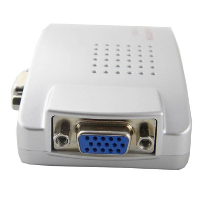 Гаджет   VGA to AV Converter Audio Video Adapter for Computer Protector HDTV Cables & Connectors