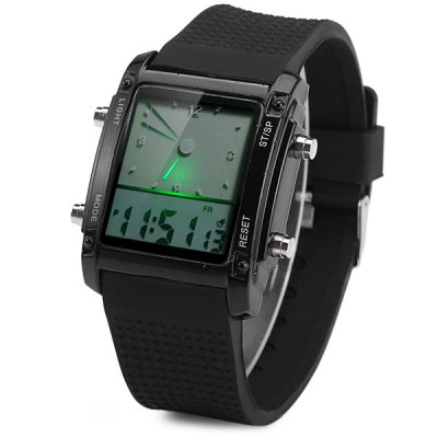 Фотография Double Time LED Sports Watch Date Day Function Wristwatch