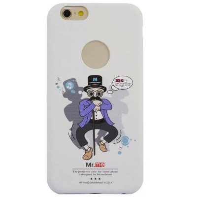 Practical PU Material Mr.me Pattern Back Cover Case for iPhone 6  -  4.7 inch