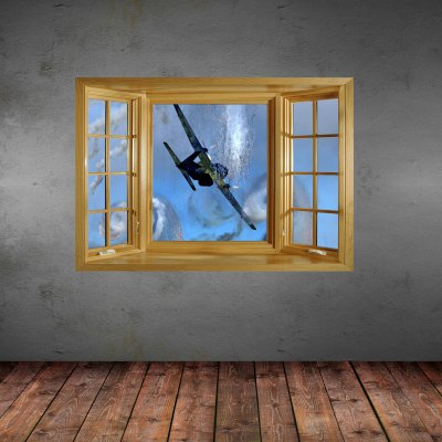 ФОТО Combat Aircraft Pattern Home Appliances Decoration 3D Wall Sticker