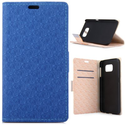 ФОТО Practical PU and PC Material Labyrinth Pattern Cover Case for Samsung Galaxy S6 G9200