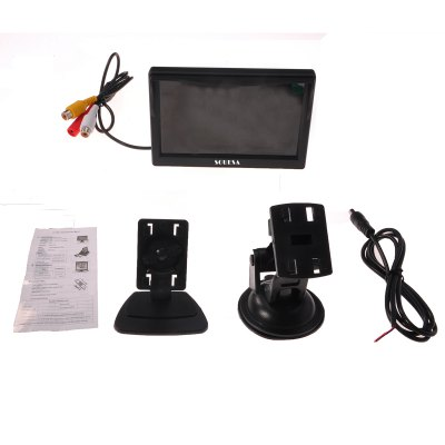Фотография HD Car Rear View System Reverse Camera with 5 inch TFT Monitor Vehicles Security Kit
