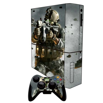 Cover Skin Stickers for Xbox 360E Game Console and Controllers with Game CF Figure PatternGame Accessories<br>Cover Skin Stickers for Xbox 360E Game Console and Controllers with Game CF Figure Pattern<br><br>Compatible with: Xbox 360E<br>Features: Sticker<br>Product Weight: 0.055 kg<br>Package Weight: 0.100 kg<br>Product Size: 26.80 x 24.00 x 0.40 cm / 10.53 x 9.43 x 0.16 inches<br>Package Size: 33.00 x 27.60 x 0.50 cm / 12.97 x 10.85 x 0.20 inches<br>Package Contents: 1 x PS3 Console Sticker, 2 x Controller  Sticker