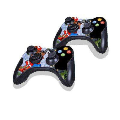 Фотография Cartoon Dog Style Game Console Gamepad Controller Stickers Skin for Xbox 360E