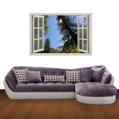ФОТО Sunshine in Spring Pattern Home Appliances Decoration 3D Wall Sticker