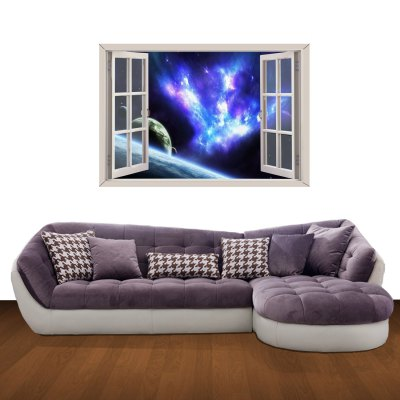 ФОТО Starry River Pattern Home Appliances Decoration 3D Wall Sticker