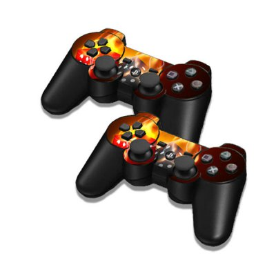 Фотография Cover Skin Stickers for PS3 Game Console and Controllers Afire Dices Pattern