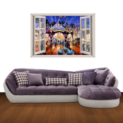 Cartoon Amusement Park Pattern Home Appliances Decoration 3D Wall Sticker