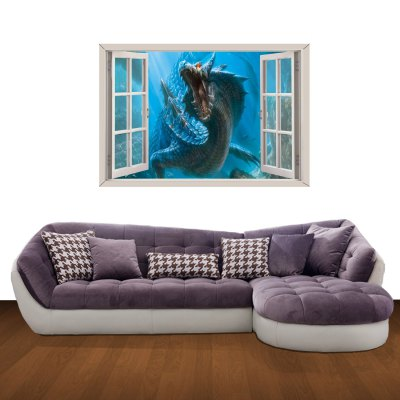 Dragon Pattern Home Appliances Decoration 3D Wall Sticker