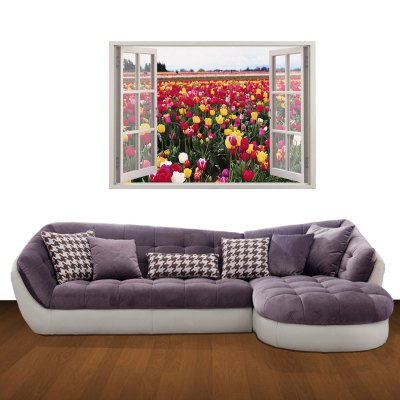 ФОТО Natural Landscape Pattern Home Appliances Decoration 3D Wall Sticker