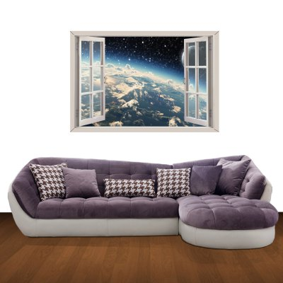 ФОТО Wonders of the Universe Pattern Home Appliances Decoration 3D Wall Sticker