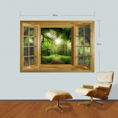 Фотография Landscape Pathway 3D Wall Sticker with Vinyl Material for Living Room