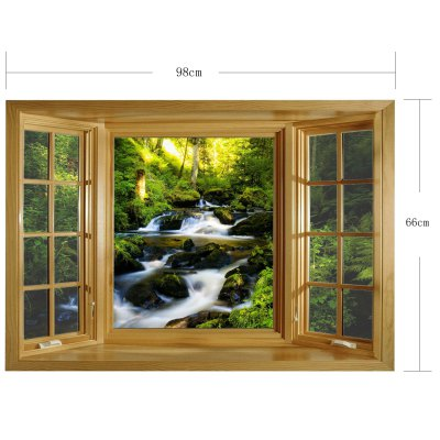 Фотография Landscape Brook 3D Wall Sticker with Vinyl Material for Living Room