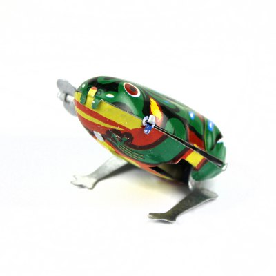 ФОТО Spring Drive Jumping Frog Toy with Stainless Steel Material