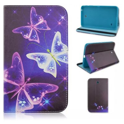 TPU + PU Leather Case Colorful Pattern Back Cover