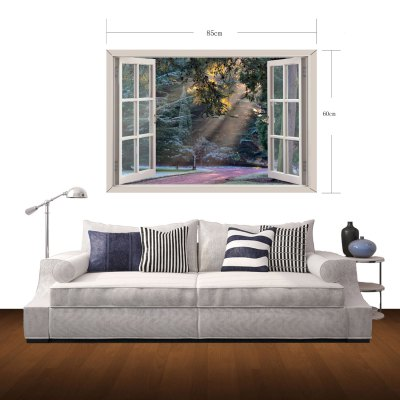 Фотография See You After the Twilight Pattern Home Appliances Decoration 3D Wall Sticker