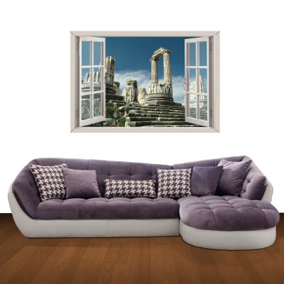 Гаджет   Historic Hieron Pattern Home Appliances Decoration 3D Wall Sticker Home Gadgets