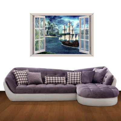 ФОТО Age Of Wind Pattern Home Appliances Decoration 3D Wall Sticker