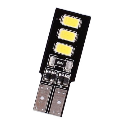 MZ T10 White 3W 6 x SMD 5630 144 Lumens LED Car Lamp Light Double Sides